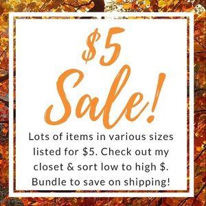 $5 sale!